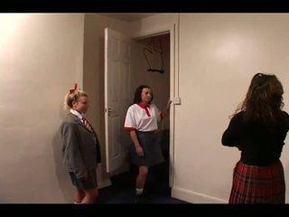 Skoolgirls Spanked by Teacher, Free Spanking Porn Video e1
