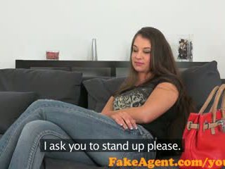FakeAgent Sweet 19 year old chick sucks and fucks in Office