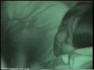 Openlucht nacht auto seks door infrared camera