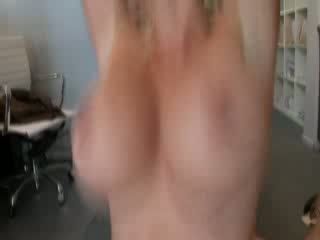 Hot blonde milf gets a hot pussy fucking from behind