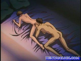Anime gejs got viņa pants unbuttoned un fucked