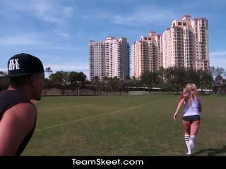 Therealworkout räpane blond addison avery tehtud armastus pärast football koolitus