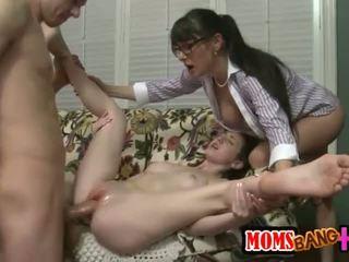 zábava skupinový sex ideálny, skutočný big cock, trojica vidieť