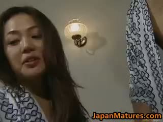 Horny Japanese Mature Babes Sucking Part3