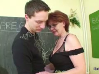 Milf Teacher Show Young German Boy How To Get Pregnant