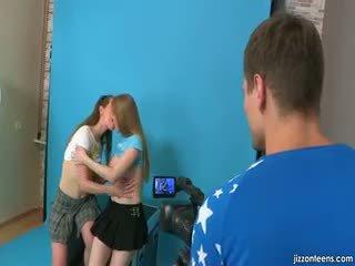 Lora And Jazzy Seduce Cameraman