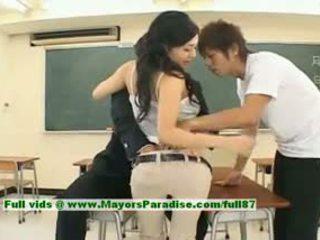 Sora aoi innocent sexy giapponese studente è getting scopata