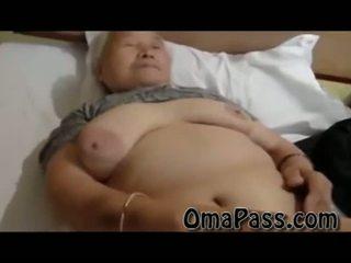 Labai senas storas japanes senelė dulkinimasis taip sunkus su vienas vyras video