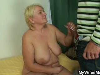 Masturbating mother gets busted and sc...