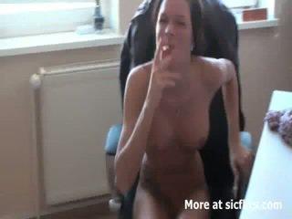Hot secretary fist fucking job interview