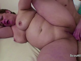 Mommy Caught Step-son Masturbate and Help with Fuck.