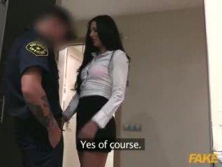 Fake شرطي female wanna يكون شرطي having حار جنس