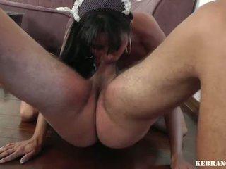 Brazīlieši housekeeper ballbusting