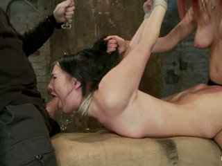 Ashli Her Phat Ass Are Flogged Tied In A Strappado Pussy Fucked Throat Fucked To Brutal1