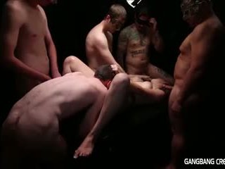 Gangbang Creampie Lesbian gets some dick and gets creamed