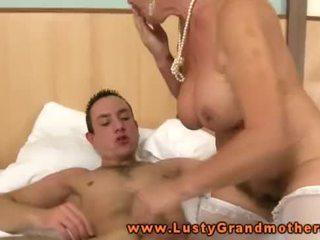 Blonde grannys hairy pussy pleasured