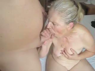 mamie, pipe, éjaculation