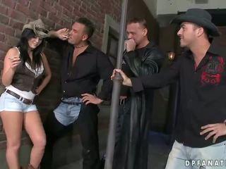 Madison Parker fucking three guys