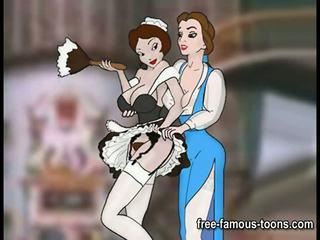 Slavens lesbiete toon meitenes orgija