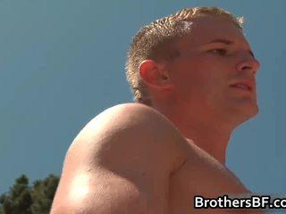 Brothers sexy boyfriend acquires weenie sucked