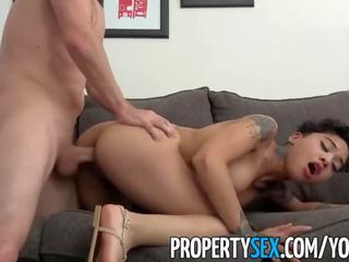 Propertysex - horký drobounký tenant pozdě na nájemné fucks ji landlord