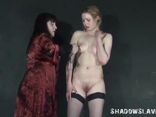 Lezdommes cruel tit torture of Amber West