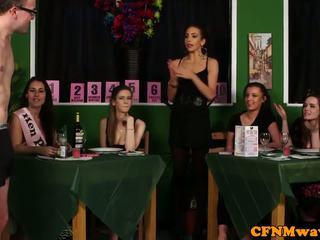 Setri cfnm reverse gang bang to waiters