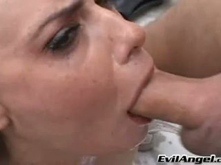 Lewd Charming Mina Leigh Deserved Getting Jizzed On Her Face After A Nice Blow