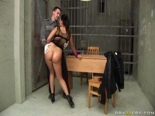 Jasmine juodas gives čiulpimas į policininkas ir gets šikna pakliuvom