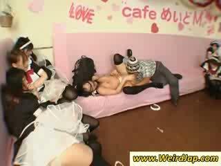 Petite oriental maids gives Blowjob