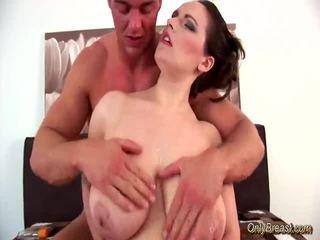 Big Breasts Babe Does Blowjob