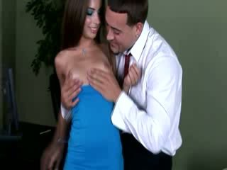 Medical practitioner getting a blowjob