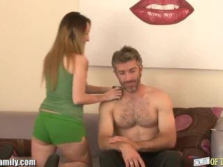 Curious rumaja sucks and fucks her friends dad