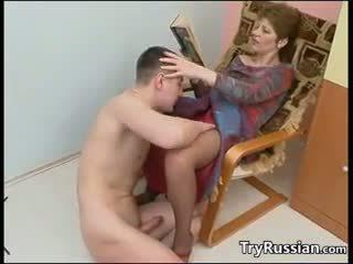 Madura rusa madre fucks