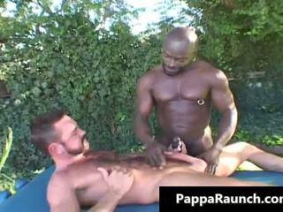 Great black gay dude gets his black cock