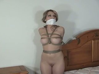 gagged, bound, tied