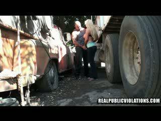 Truck apstāties jāšanās violations