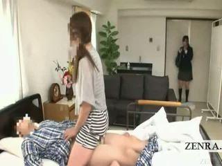 Subtitled japonesa aluna hospital milf surpresa