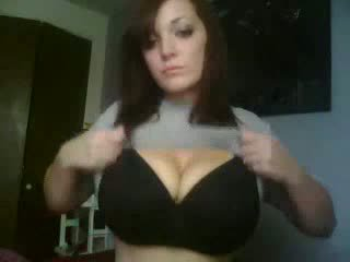 Söpö verkkokameran tyttö kotitekoiset video-