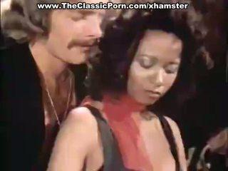 Trójkąt porno wideo z vintage gwiazdy porno