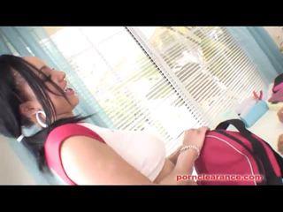Porn Clearance: Ebony lesbos miss brazil & shyla haze hot action.