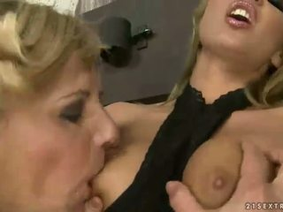 Cindy Hope and submissive granny