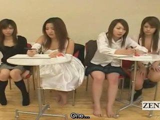 Subtitled japanska amatör quiz spel friends klocka kön