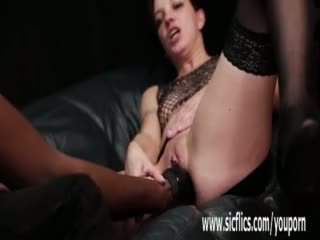 Roughly Fist Fucked by Her Ebony Bf Ti...
