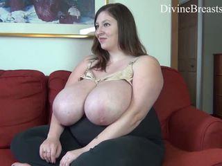 Huge lactating BBW tits