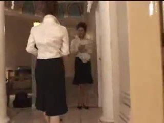 3 hvit jenter i japansk massasje parlor