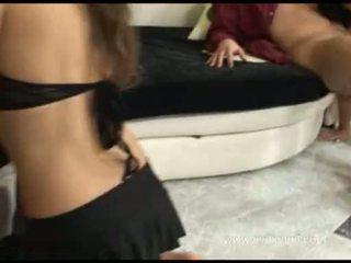 Kyra schwarz und abbie cat erwerben ihre enchanting lips runde two throbbing cocks
