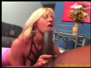 Racy সাদা receives বিশাল boner
