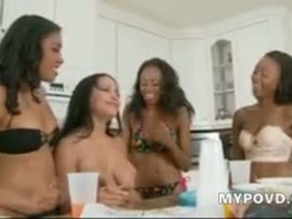 Four Amazing Chicks Wait Some Guys To Fuck