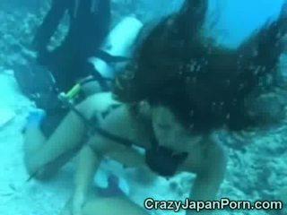 Gek onderwater bj